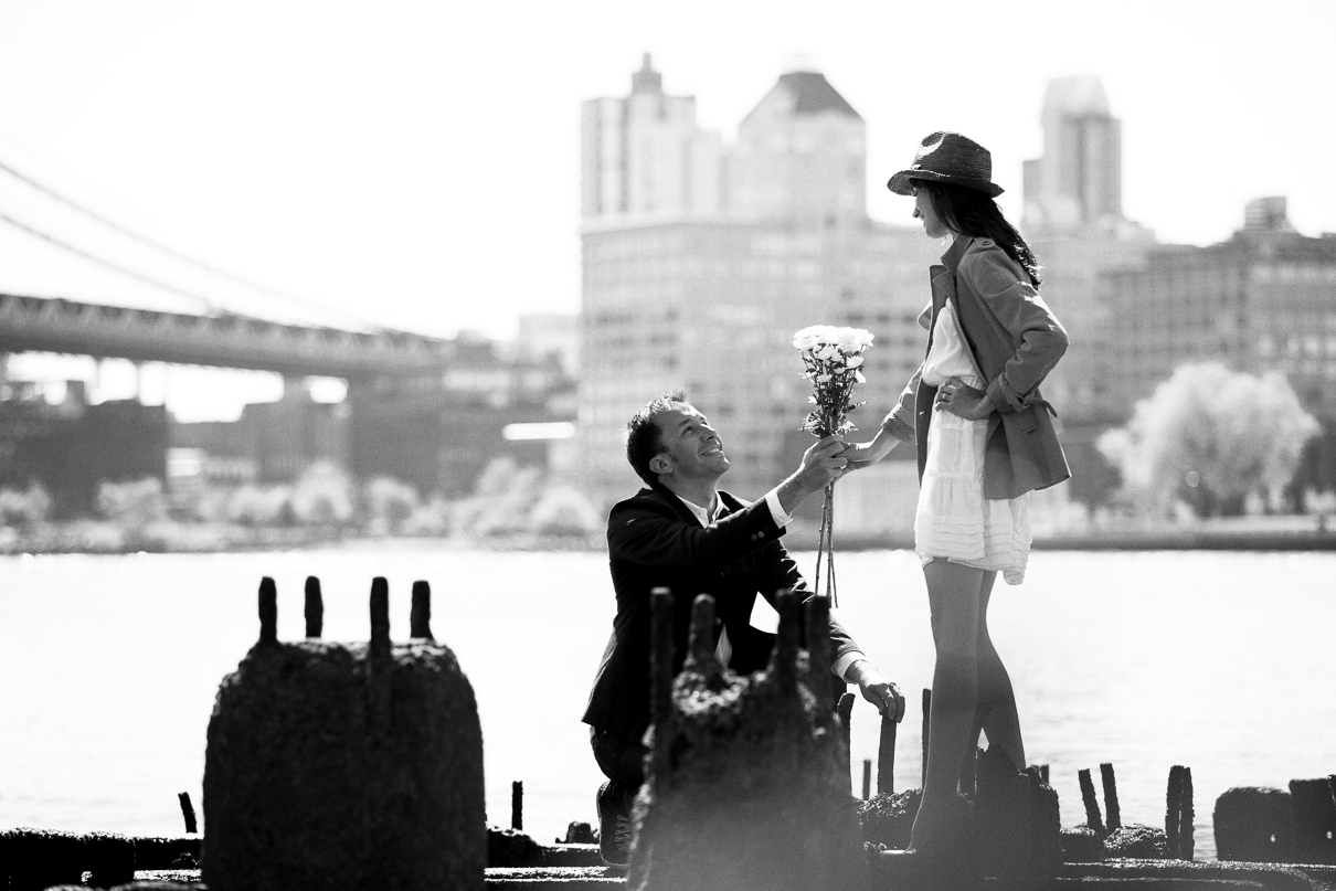 NYC Wedding Photographer Brooklyn Bridge Engagement photos