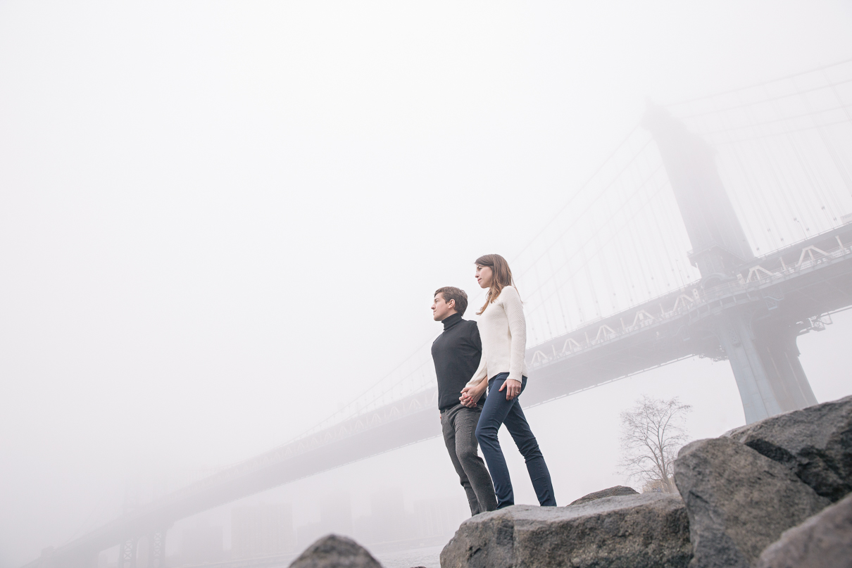 NYC Wedding Photographer DUMBO engagement photos