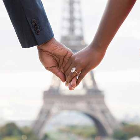 Paris engagement photos at the Eiffel Tower