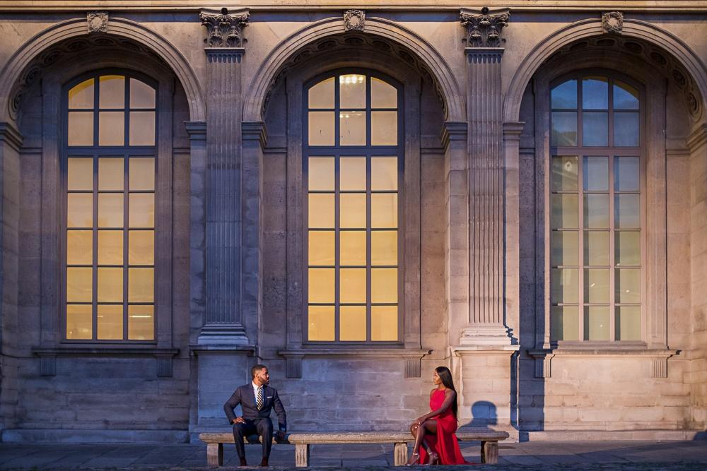 Paris engagement session at the Louvre Museum-2