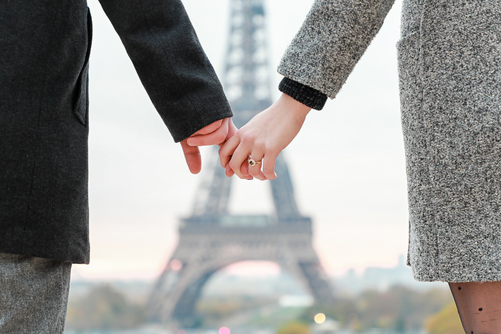 Paris surprise proposal at the Eiffel Tower