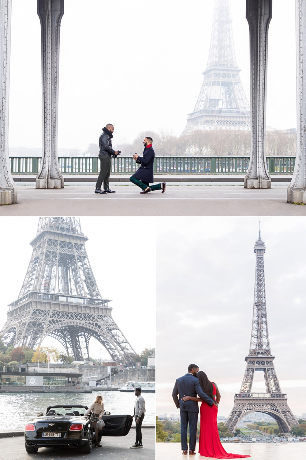 How to propose Paris proposal with Eiffel Tower view