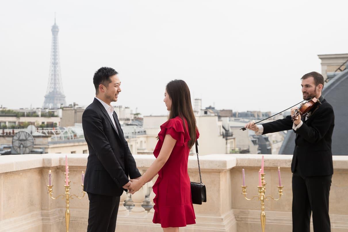 Paris luxury proposal at the Raphael Hotel Paris