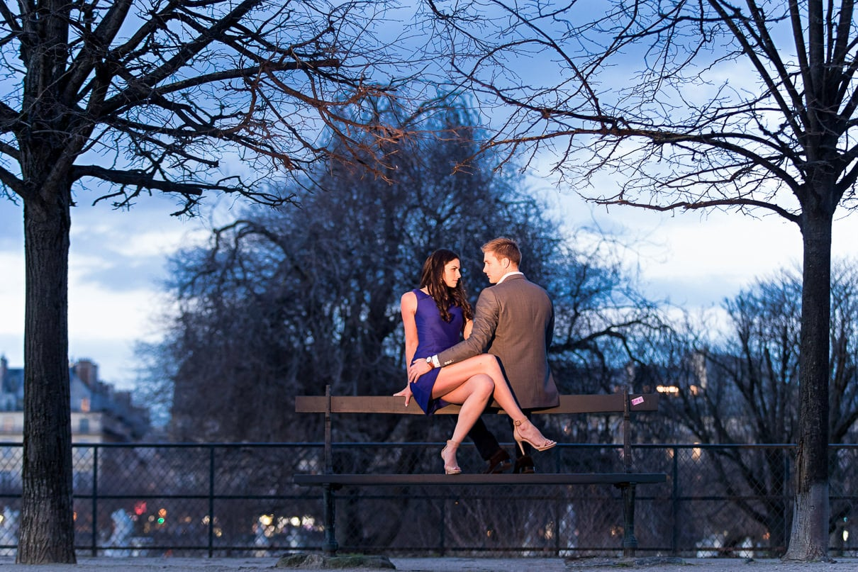 Paris photographer paris engagement photos Tuileries Gardens