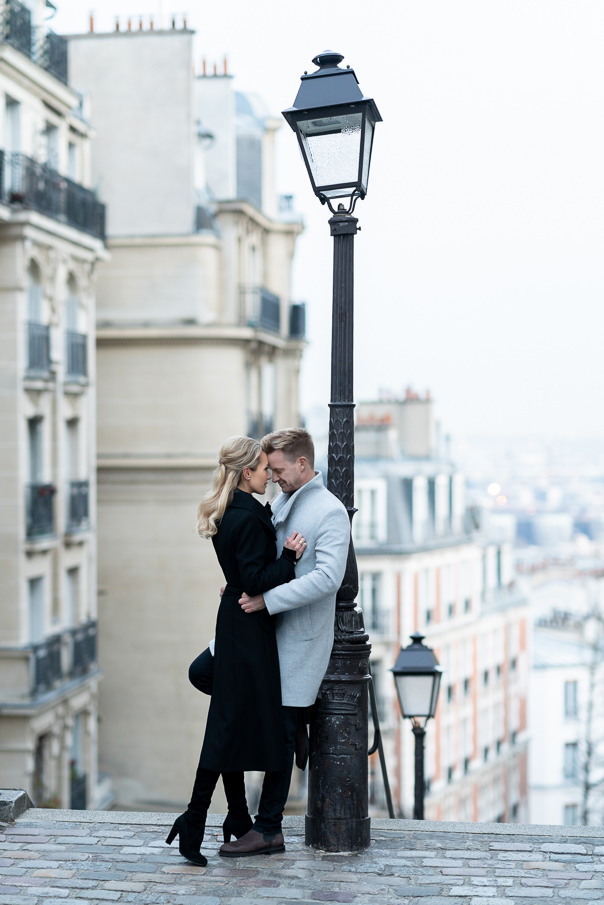 Paris Photographer Engagement Photoshoot at Montmartre