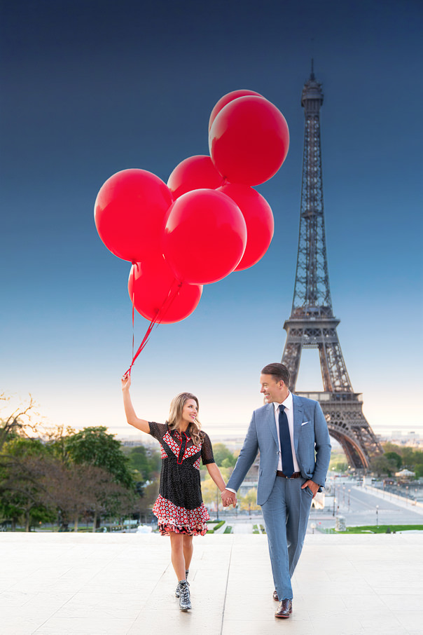 Paris engagement at the Eiffel Tower at Trocadero