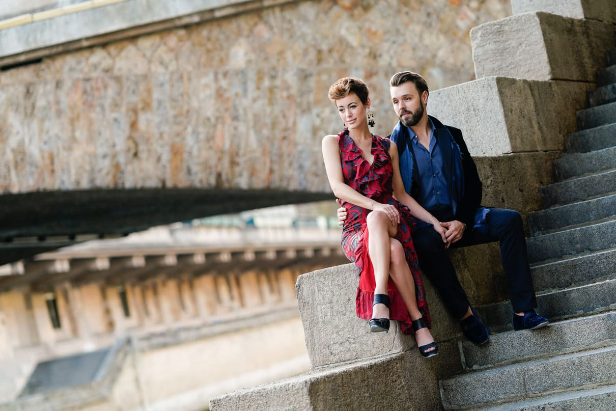 Paris engagement photos at Notre Dame