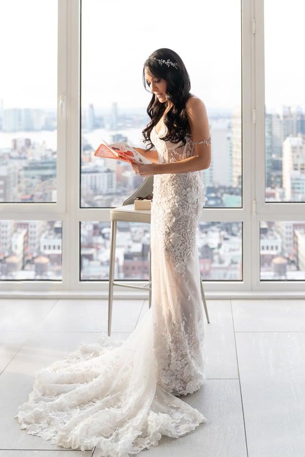 Capitale NYC Wedding Photographer wedding day gift exchange