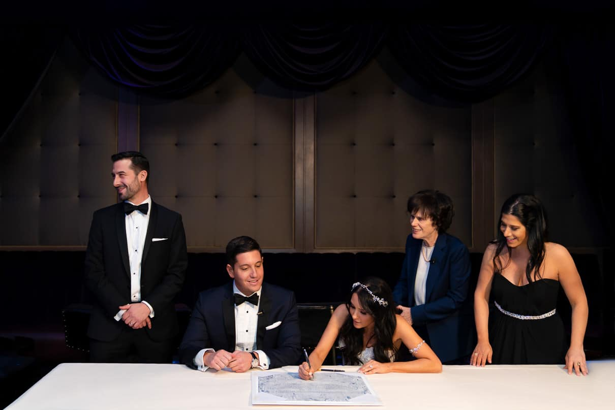 Capitale NYC Wedding Photographer Ketubah Signing