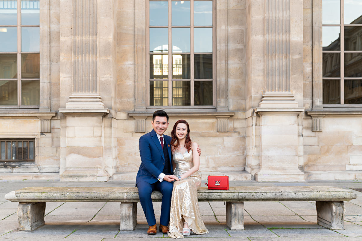 Paris photographers Engagement photos at the Louvre Museum
