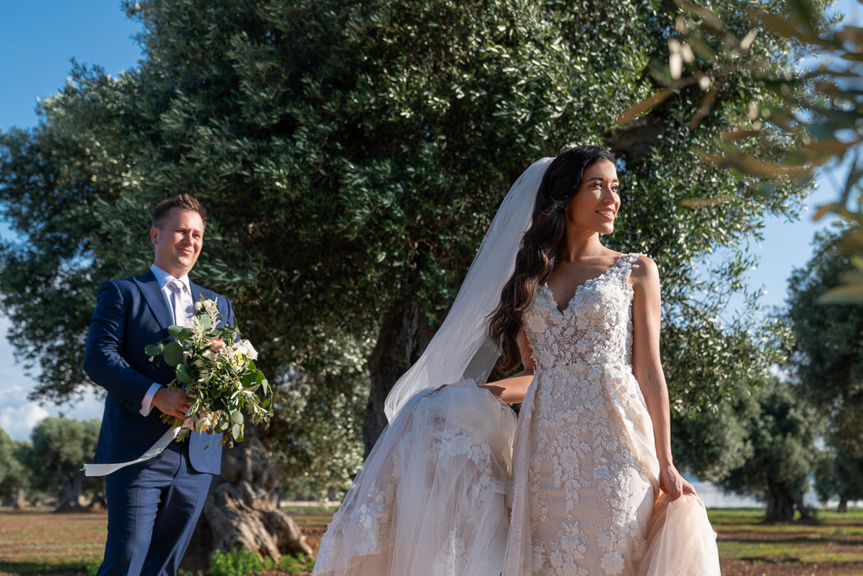 NICOLE SPOSE wedding dress made in Italy Borgo Egnazia Wedding
